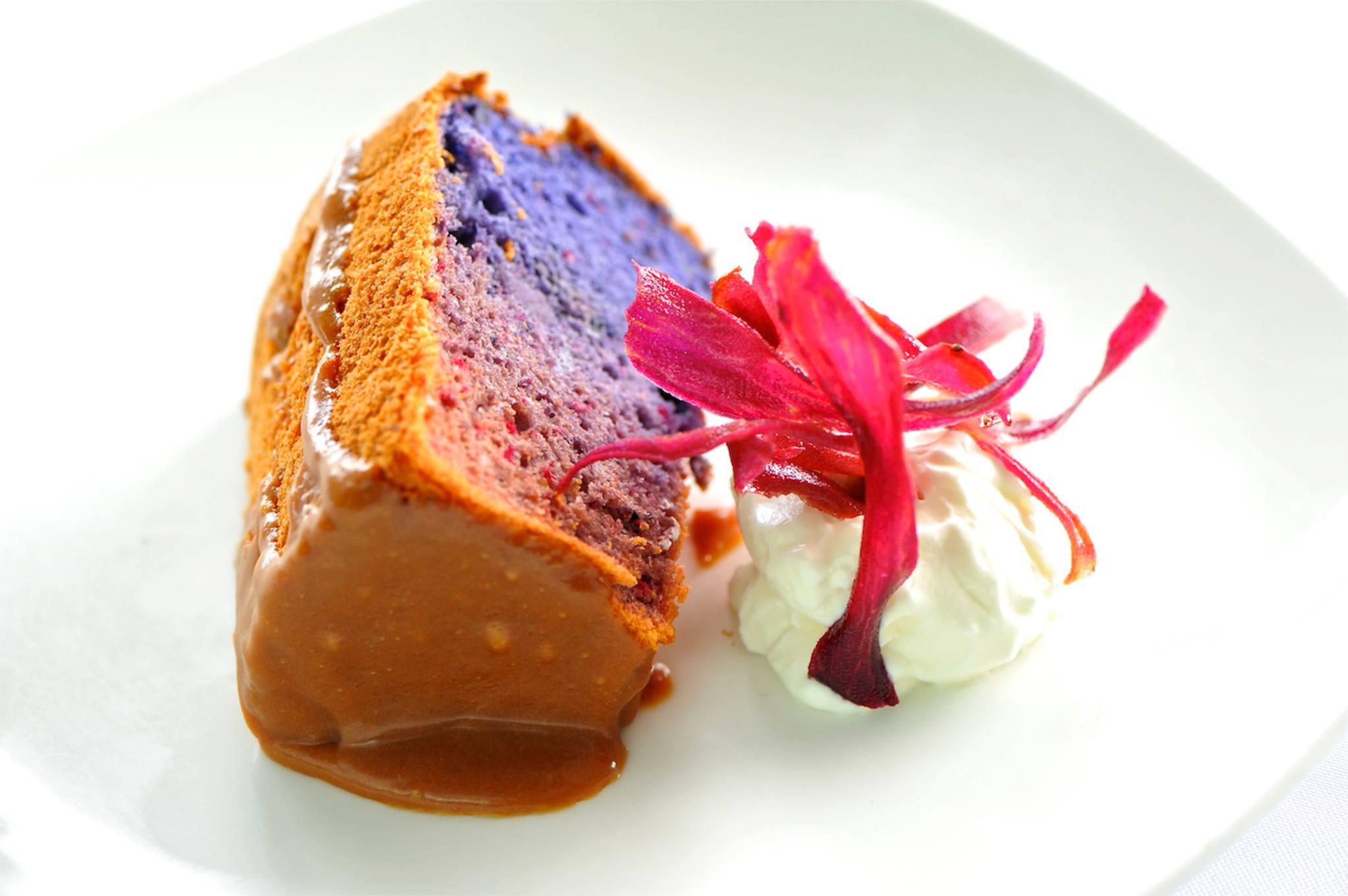 Japanese Sweet Potato Chiffon Cake